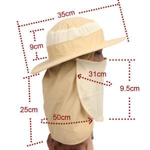 eeb7ba76 Boonie Snap Hat Brim Ear Neck Cover Sun Flap Cap Visor Fishing ...