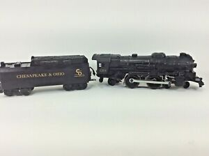 Lot-of-2-O-Scale-Lionel-8141T-10-Tender-Chesapeake-amp-Ohio-8304-Die-Cast-Untested
