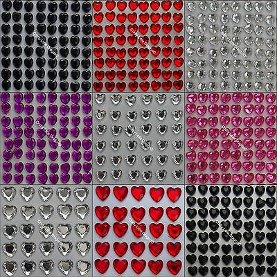 Not Stick On Self Adhesive LOOSE Clear Red 100 x 10mm Diamante Rhinestone GEMS