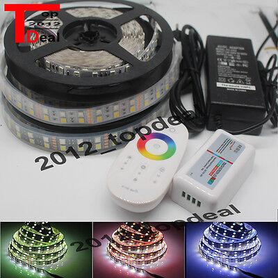 5M RGBW 5050 600LED Double Row LED Strip White PCB +2.4G RGBW controller+8A powe