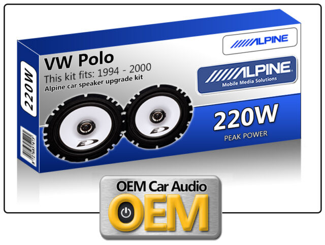 VW Polo Front Door speakers kit Alpine car speakers 220W Max
