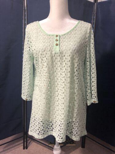 Simply Noelle Women's Crochet Top Pastel Green Sm