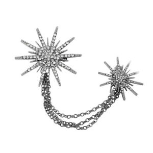 Snowflake-Crystal-Blouse-Collar-Clip-Neck-Tip-Brooch-Pin-Chain-Christmas-Gift-G