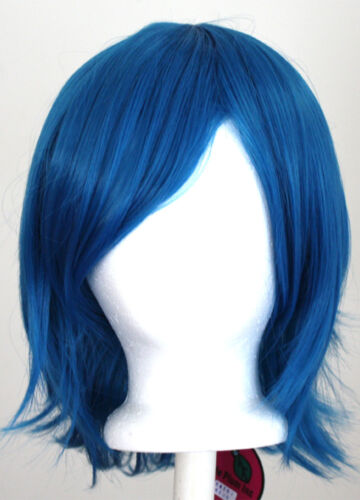 12'' Short Flare Cerulean Blue Cosplay Wig Synthetic NEW