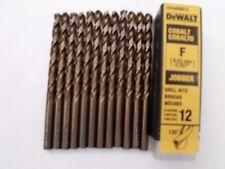 DeWalt DD4406B12 Letter F Cobalt Jobber Drill Bits 12pcs.