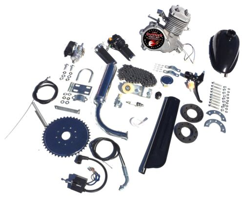"""COMPLETE DIY 2-STROKE 66CC//80CC MOTORIZED BICYCLE KIT WITH 26/"""" GAS TANK BIKE"""