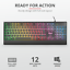 miniatura 5 - Tastiera gaming illuminata LED DA GIOCO TRUST 12 tasti multimediale mac windows