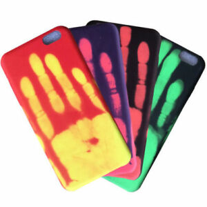 online store 84a54 968ae Details about Heat Thermal Colour Changing Phone Case Cover iPhone 6 6s 7 8  X + PLUS