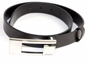 1ff5991fd7c4d 100% Authentic GUCCI BELT WITH BRASS G BUCKLE SIZE 65cm-26inch Made ...