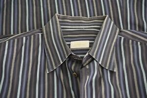 Brioni-Blue-Gray-Striped-Cotton-Long-Sleeved-Button-Up-Shirt-Sz-XL