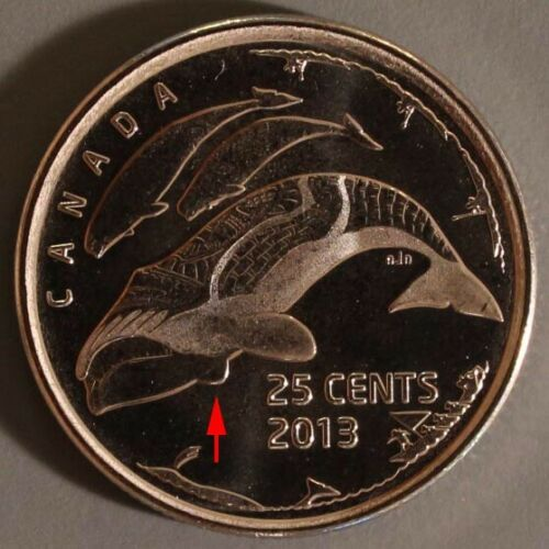 2013 Canada 25 Cent Life In The Arctic Die Variety Mint Error *UPDATED*