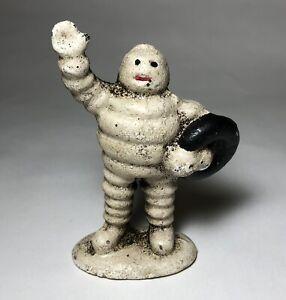 Michelin Tires Bibendum Tyre Man Cast Iron Advertising Figural Paperweight (4)
