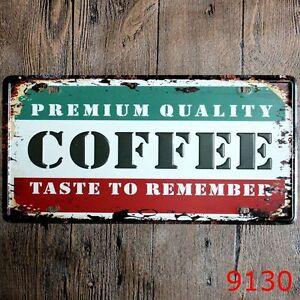 Metal-Tin-Sign-premium-coffee-Decor-Bar-Pub-Home-Vintage-Retro-Poster-Cafe-ART