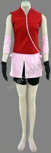 Naruto Haruno Sakura Cosplay Costume Children Girl Women Halloween New