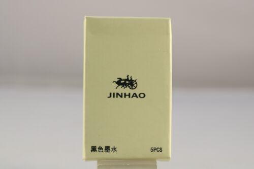 Jinhao Black Fountain Pen International Ink Refills x 5 Brand New