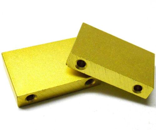L4249 1//8 Scale Engine Mount Blocks x 2 Gold 4mm .21