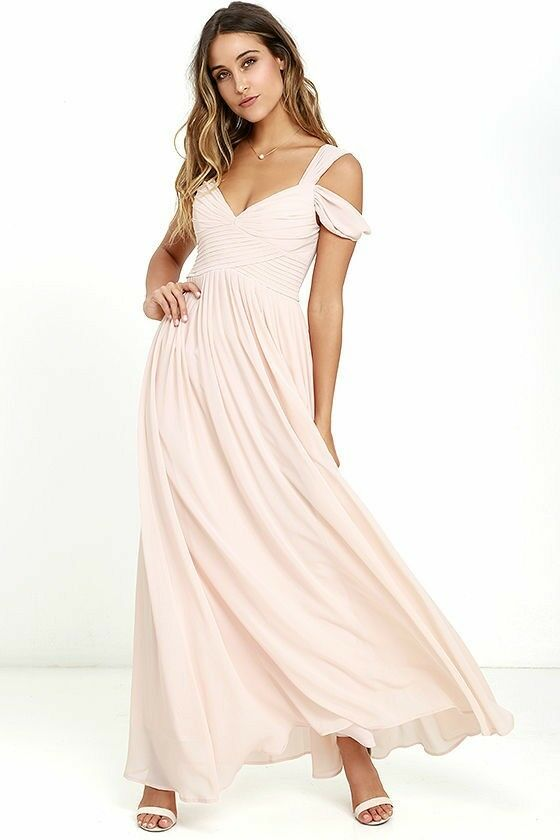 Woman Maxi Dress bluesh Pink