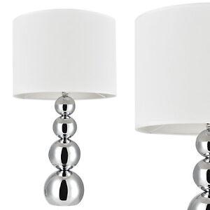 57cm x Ø25 cm Weiß Tischlampe Nachttischlampe Leselampe lux.pro Tischleuchte