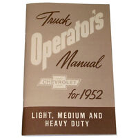 1952 Chevrolet Pickup Truck Owners Manual