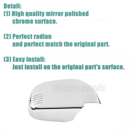 Chrome Side Mirror Door Handle Covers Trims For 1999-2005 Suzuki Grand Vitara