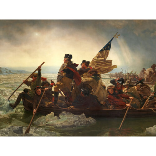 Leutze Washington Crossing The Delaware Painting Huge Wall Art Poster Print