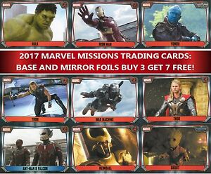Topps-MARVEL-MISSIONS-Attax-choose-your-base-and-mirror-cards-buy-3-get-7-free