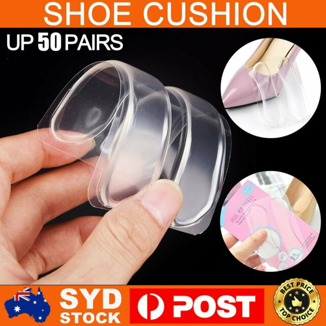 3-50 Pairs Gel Silicone Heel Grip Back Liner Shoe Insole Pad Foot Care Protector