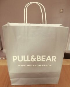 Details About Pull Bear Brown Medium Paper Carrier Gift Bag Clothing Accessories