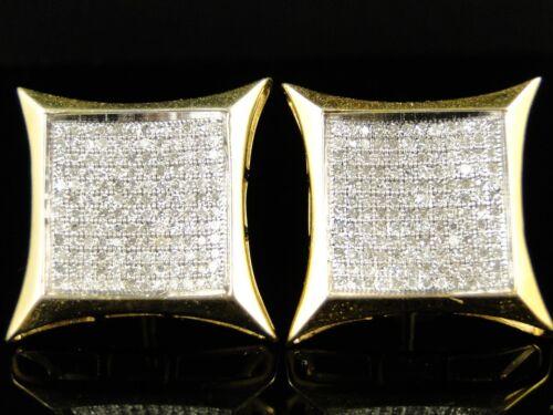 New Mens Or Ladies 20 Mm Pave Genuine Diamond Kite Stud Earrings 1.0 Ct