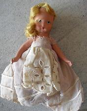 "Vintage 1930s Nancy Ann Bisque Blonde Hair Girl  Doll 5 1/4"" Tall"
