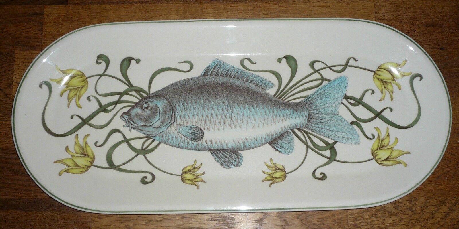 1 Fischplatte     Platte Karpfen 52,5 cm  23,5  Villeroy & Boch  Design braunidge | Passend In Der Farbe  7a167c