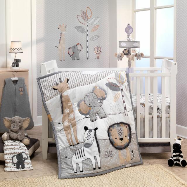 Lambs Ivy Jungle Safari Nursery Baby, Grey And Crib Bedding