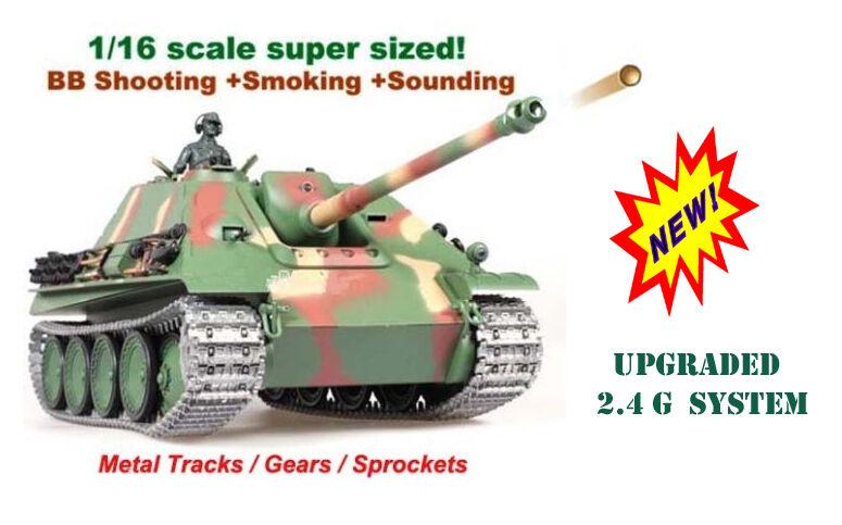 precios mas baratos Tanque RC Heng Largo cazacarros Metal Metal Metal PRO  versión actualizada 2.4G  Mejor precio