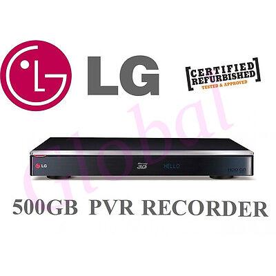 LG TWIN HD TUNER 3D BLURAY PLAYER 500GB HDD PVR RECORDER BLU RAY WIFI HR945T