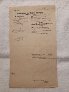 Teils-Handschriftliches-Dokument-1854-Suhl-Koeniglich-Preussisches-Kreisgericht