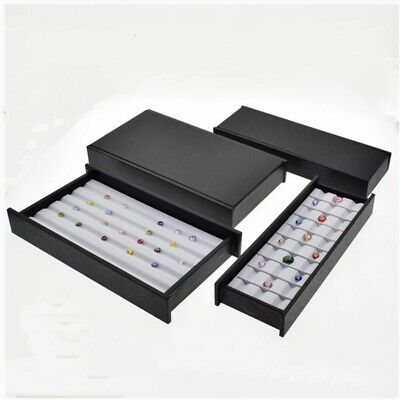 2 Pcs Magnet Cover Gem Box Diamond Display Tray Holder Gemstone Organizer