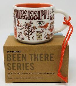 STARBUCKS-Been-There-Mississippi-2-oz-ORNAMENT-MUG-Espresso-Cup-New-Limited-Mini