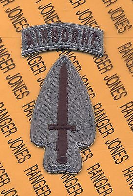 US Army Special Operations Command Airborne ACU patch c/e