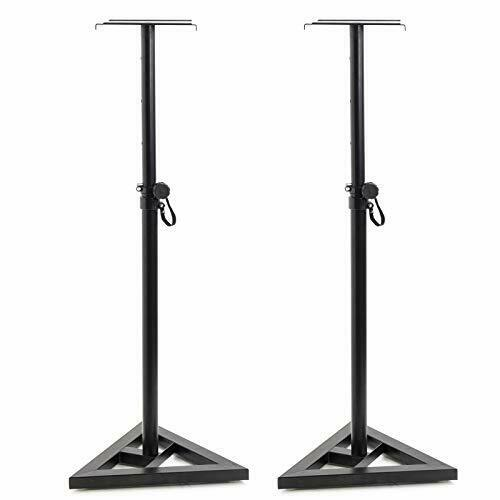 Adjustable 6 height (80 cm - 130 cm) Studio Monitor Speaker Stand