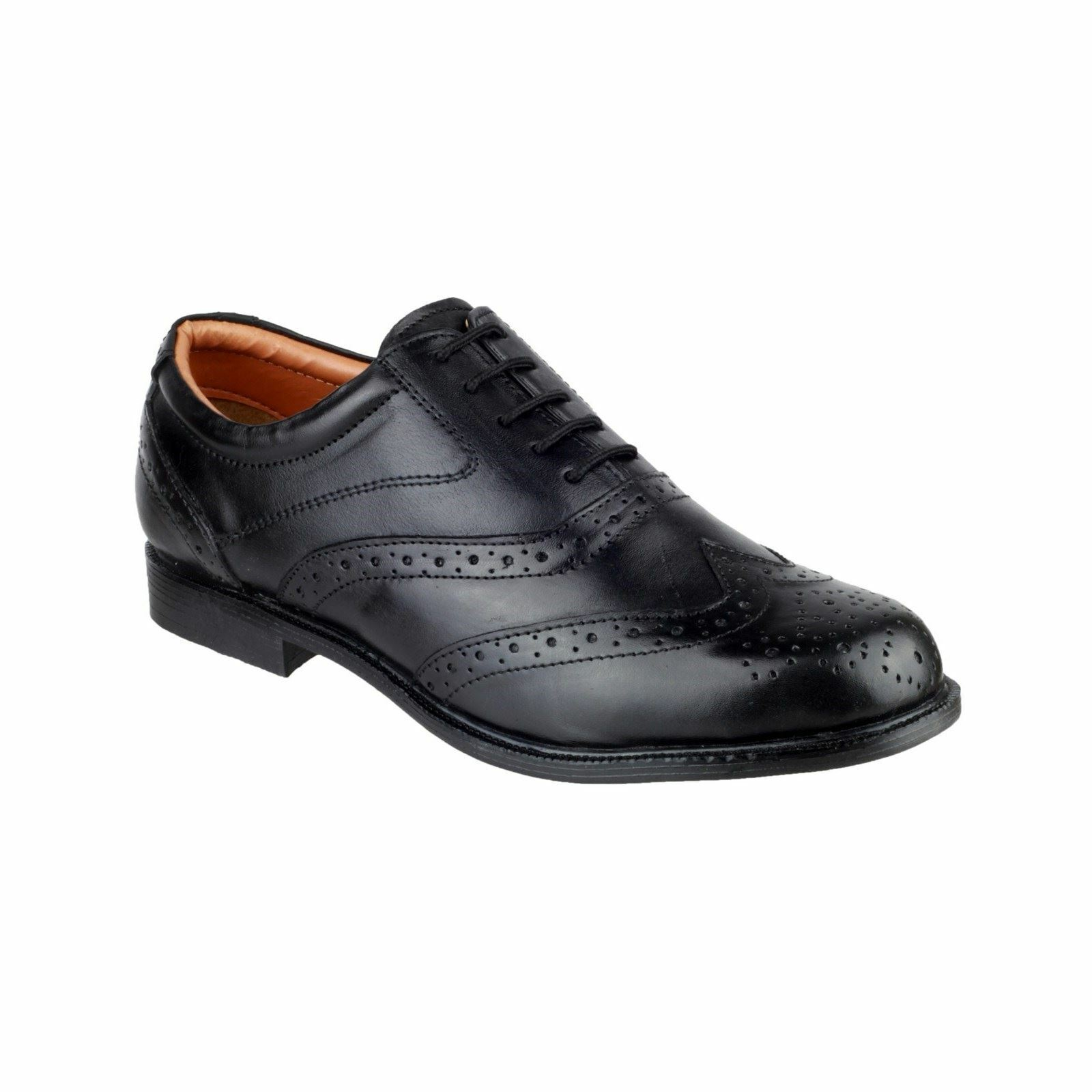 Amblers Lace Mens shoes Liverpool Oxford Brogue Black Non Safety