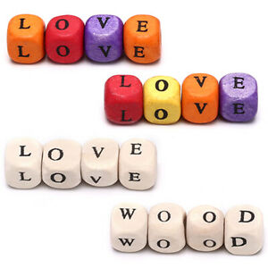 100Pcs-DIY-Square-Alphabet-Wooden-Beads-Jewelry-Making-Necklace-Spacer-Beaded-UK
