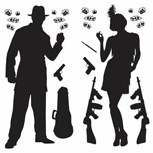 ROARING-20-039-S-GANGSTER-PARTY-PROPS-SILHOUETTES-1920-039-S-WALL-DECORATIONS