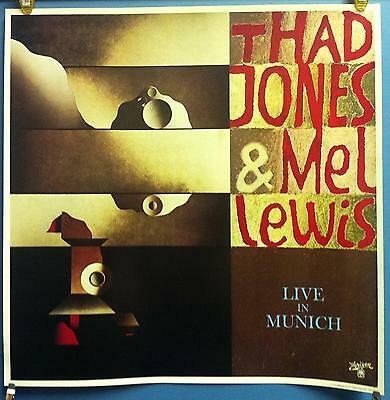 """Thad Jones & Mel Lewis Live In Munich 23.5""""x23.5"""" In Store Promo Poster 1977"""