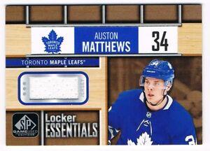 100% authentic 59e7d 823be Details about 2018-19 SP Game-Used Locker Essentials Jersey #LE-AM Auston  Matthews