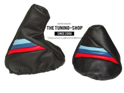 For Bmw 3 Series E36 E46 Shift /& E brake Boot Black Leather M3 ////// Stripes