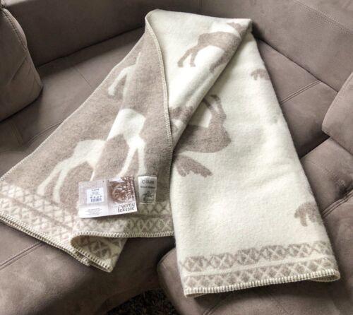 Blanket Throw Bed Sofa Fleece Cozy Plaid Soft Warm 100/% Wool 130x200cm Deer Top