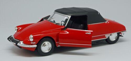 Spritzguss Welly Modellauto Citroen DS 19 Cabrio mit Verdeck 1:24 L= 20,2 cm