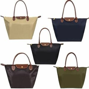 Womens Ladies Designer Foldable Nylon Tote Handbag Shopper Bag ...
