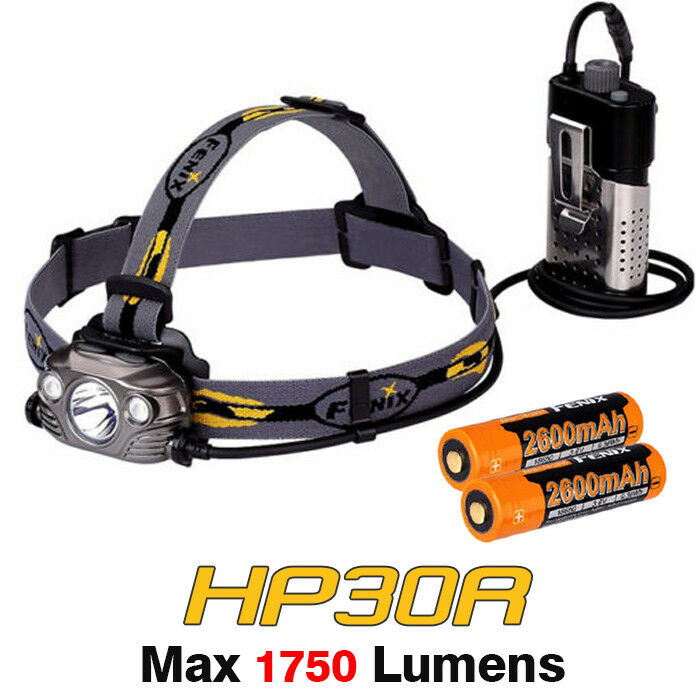 Fenix HP30R Cree Dual LED USB Rechargeable Headlamp Headlight +  Battery  hottest new styles