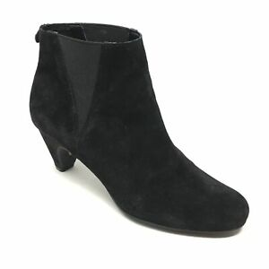 Women-039-s-Sam-Edelman-Morillo-Ankle-Boots-Booties-Shoes-Size-6-5M-Black-Suede-G1
